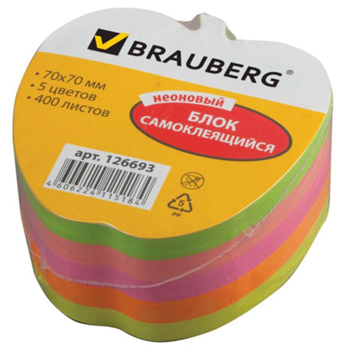 Brauberg Бумага для заметок Яблоко с липким слоем 7 x 7 см 400 листов 126693