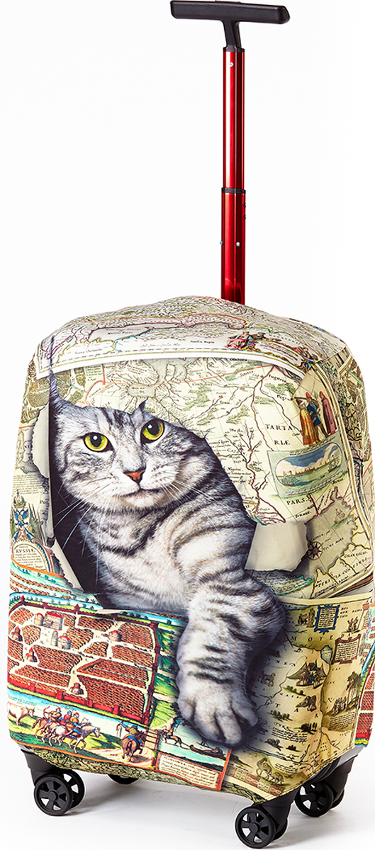 Чехол для чемодана RATEL Кот в мешке. Размер L (высота чемодана: 75-85 см) цена