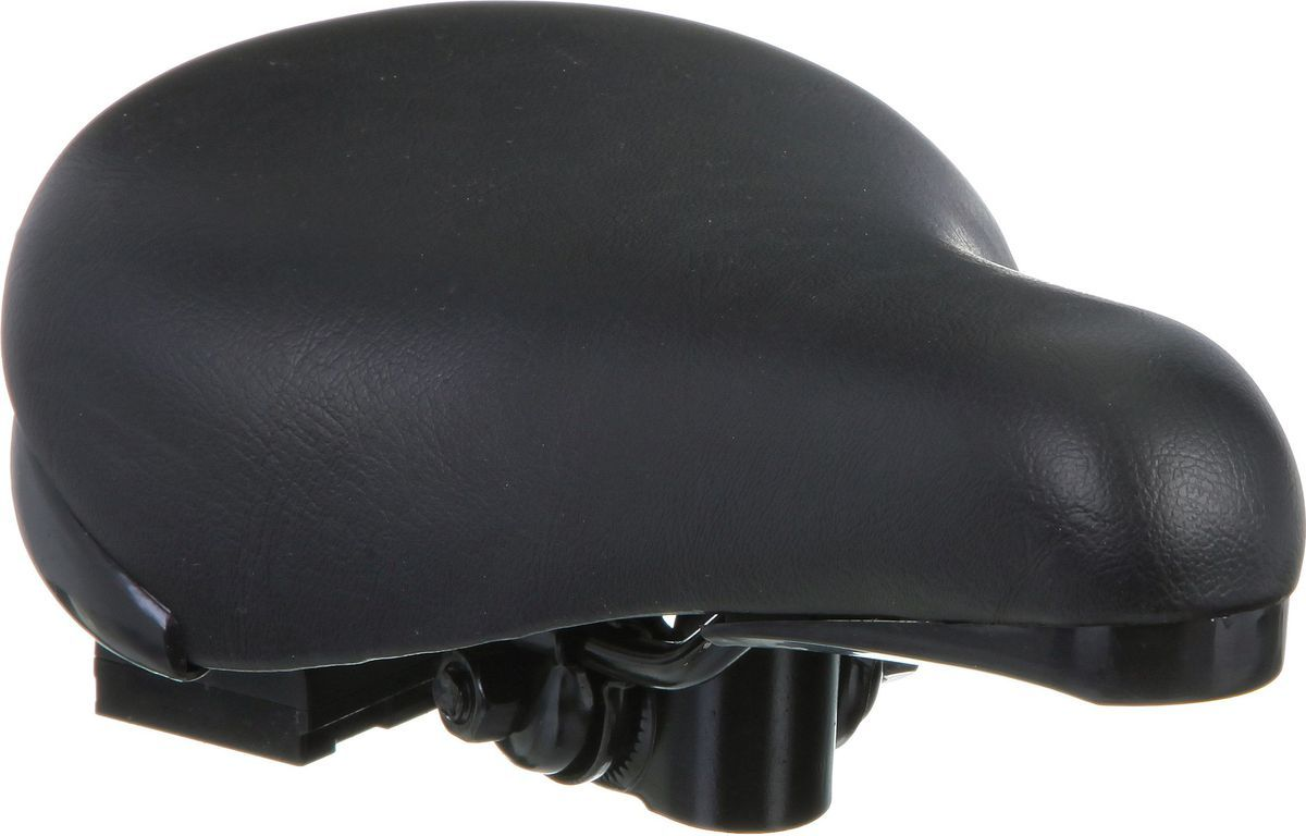 Седло для детского велосипеда STG HBAZ-0617 Novatrack, с замком, для 18 и 20, цвет: черный седло для велосипеда ventura junior подростковое 228х150мм универсальное 16 24 5 250203