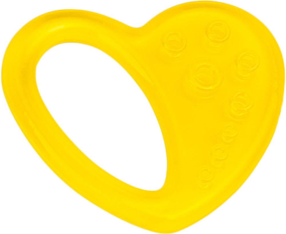 Canpol Babies Прорезыватель охлаждающий Сердце цвет желтый canpol babies прорезыватель уточка от 0 месяцев цвет желтый
