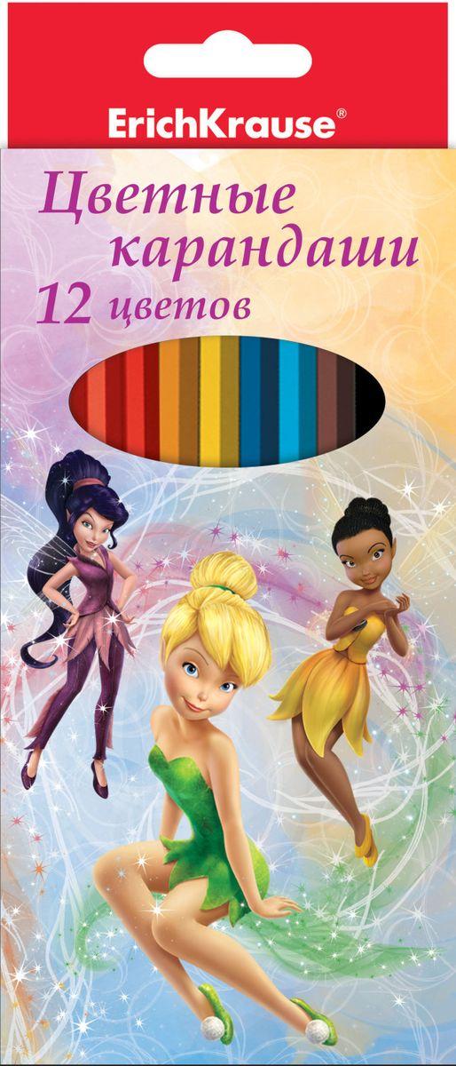 Disney Набор цветных карандашей Феи Цветочная вечеринка 12 цветов amscan набор для декора настольный disney феи