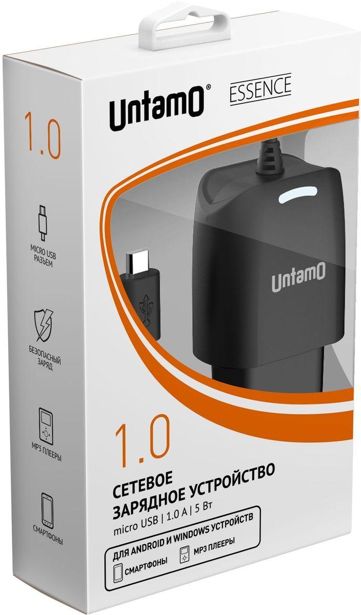Untamo UESWM1.0BL сетевое зарядное устройство, Black untamo essence чехол универсальный 4 5 5 0 black