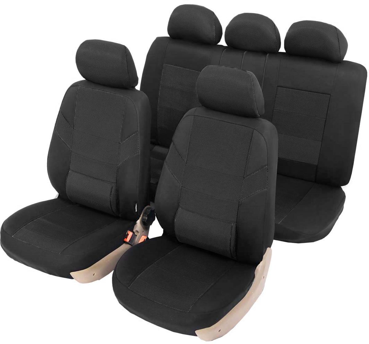 Чехлы автомобильные универсальные Senator Colorado, с ортопедической поддержкой, цвет: черный, 11 предметов. Размер M
