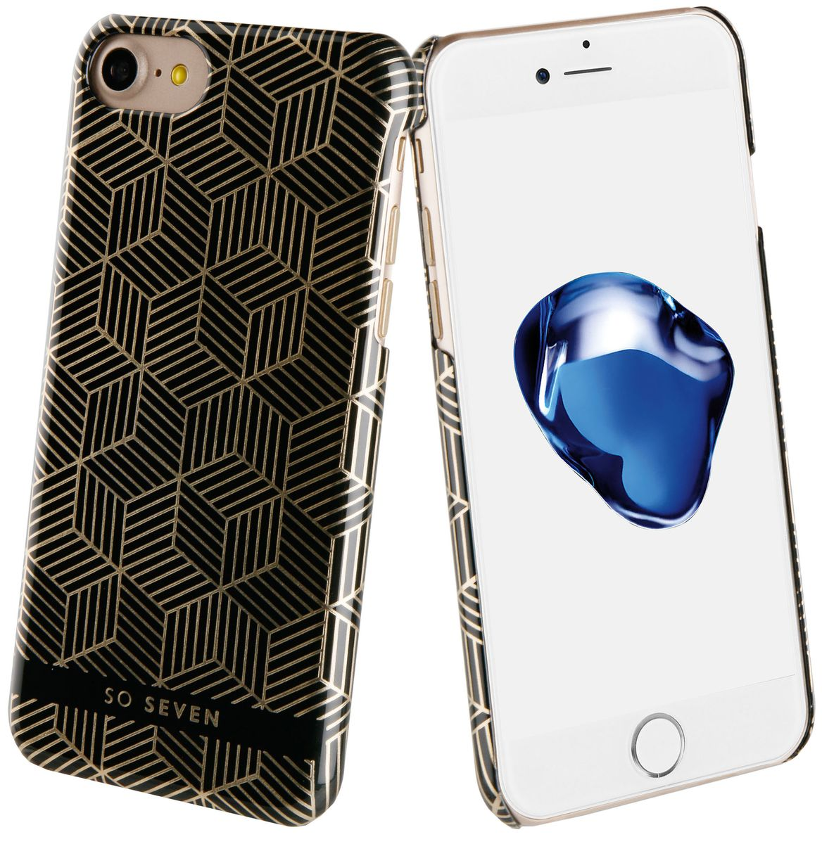 So Seven Midnight Cubic чехол для Apple iPhone 7/8, Black so seven cannes чехол для apple iphone 8 7