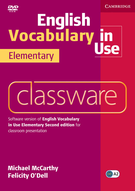 English Vocabulary in Use: Elementary Classware (DVD-ROM) english vocabulary in use elementary