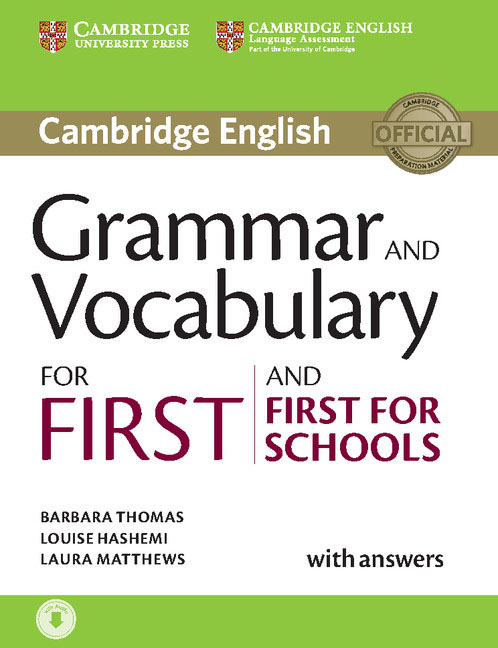 Grammar and Vocabulary for First and First for Schools Book with Answers cambridge english first for schools 2 student s book with answers