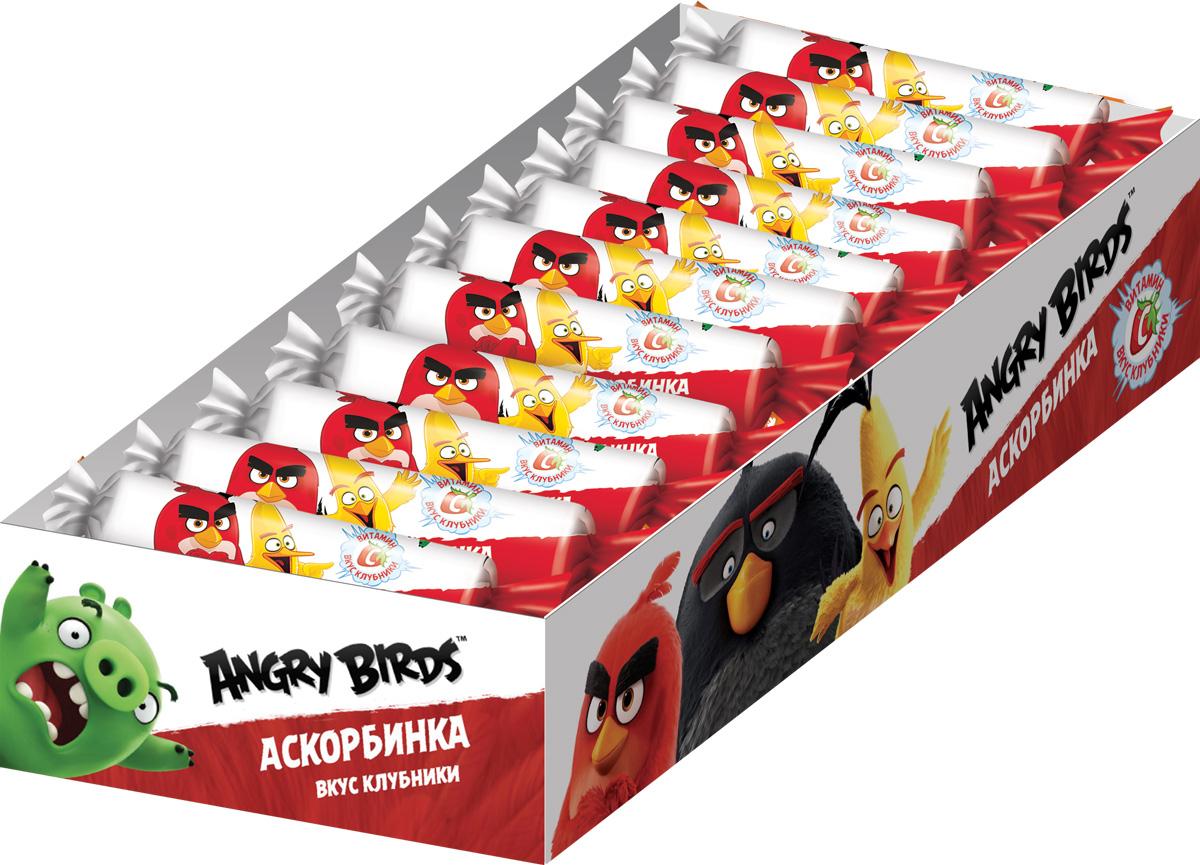 Angry Birds Movie аскорбинка со вкусом клубники, 20 шт по 30 г жевательные конфеты cloetta chewits со вкусом клубники 24 шт по 29 г