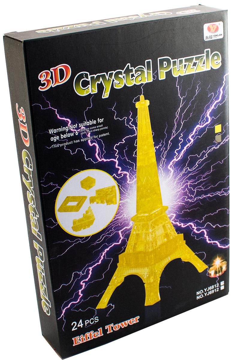 Фото - Эврика 3D Пазл Эйфелева Башня цвет желтый пазл конструктор 3d ice puzzle эйфелева башня