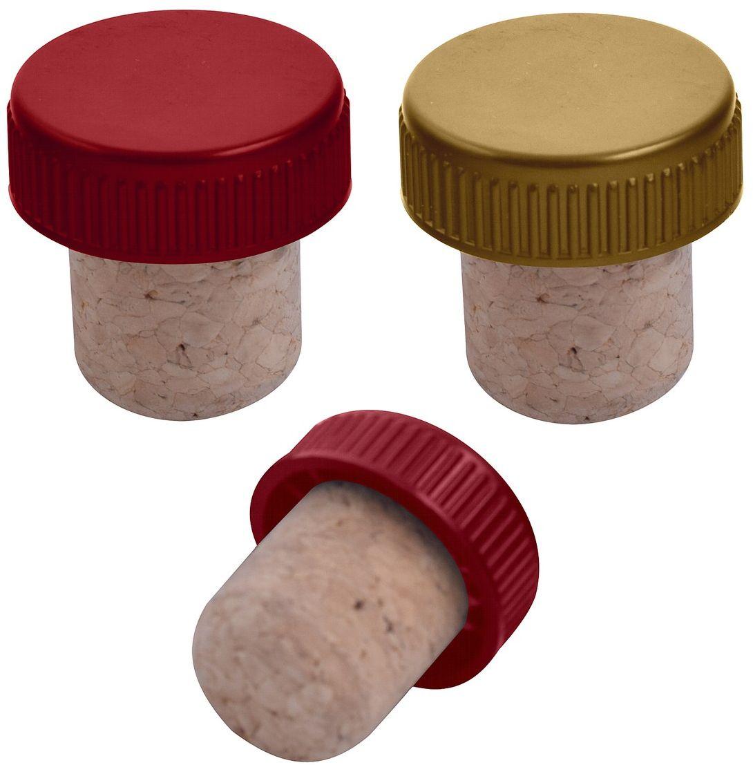 Пробка для бутылок Мультидом, 2 х 2 х 3 см, 2 шт штопор мультидом an57 2