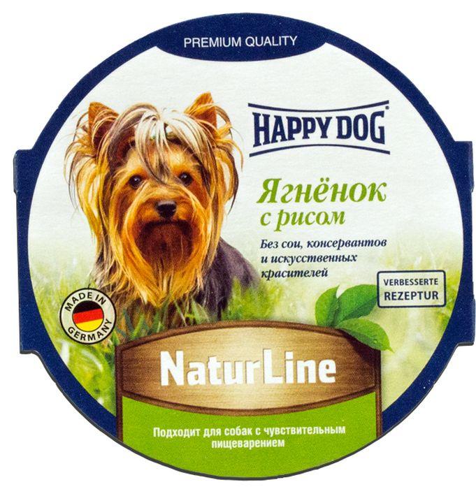 Консервы Happy Dog Natur Line для собак, с ягненком и рисом, 85 г консервы happy dog natur line кролик для собак 85г 71499