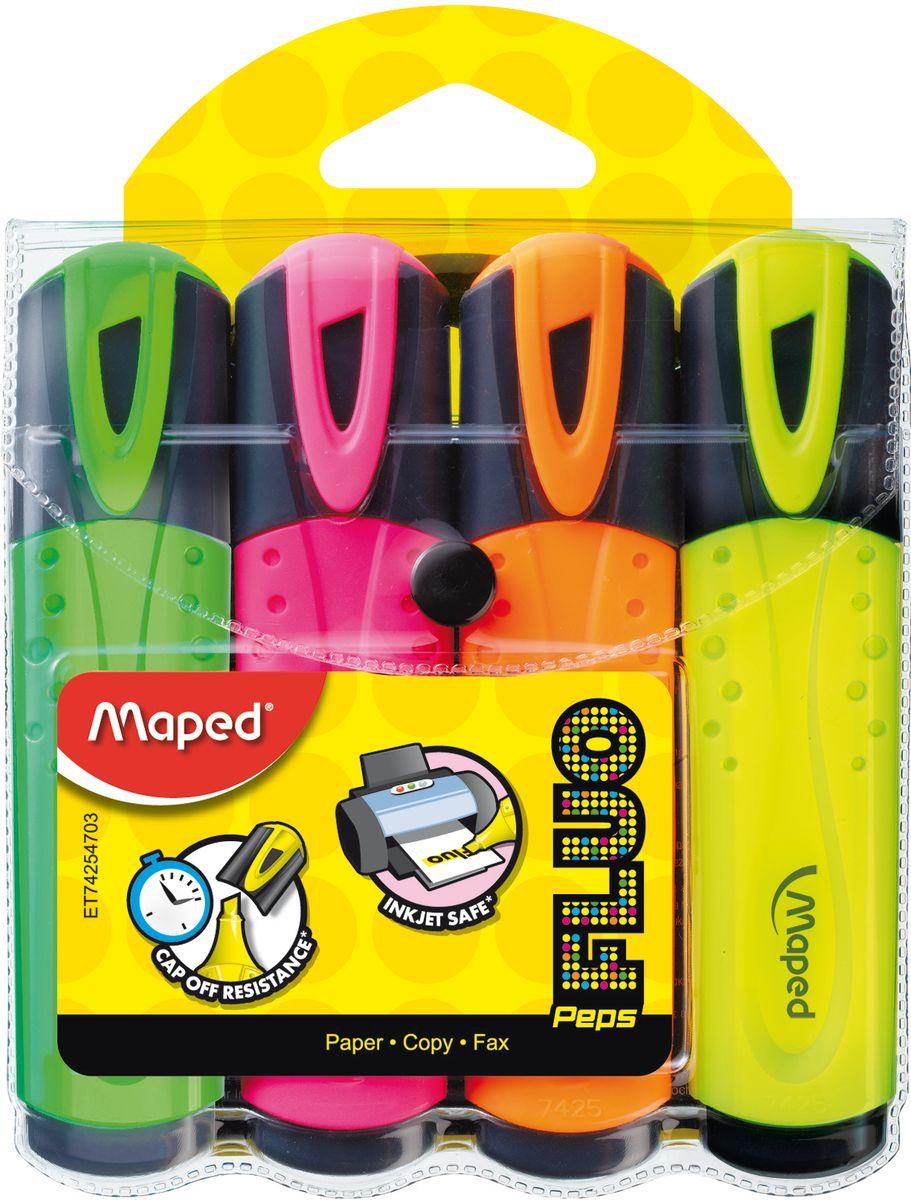 Maped Набор маркеров Fluo Pep'S 4 цвета цена 2017
