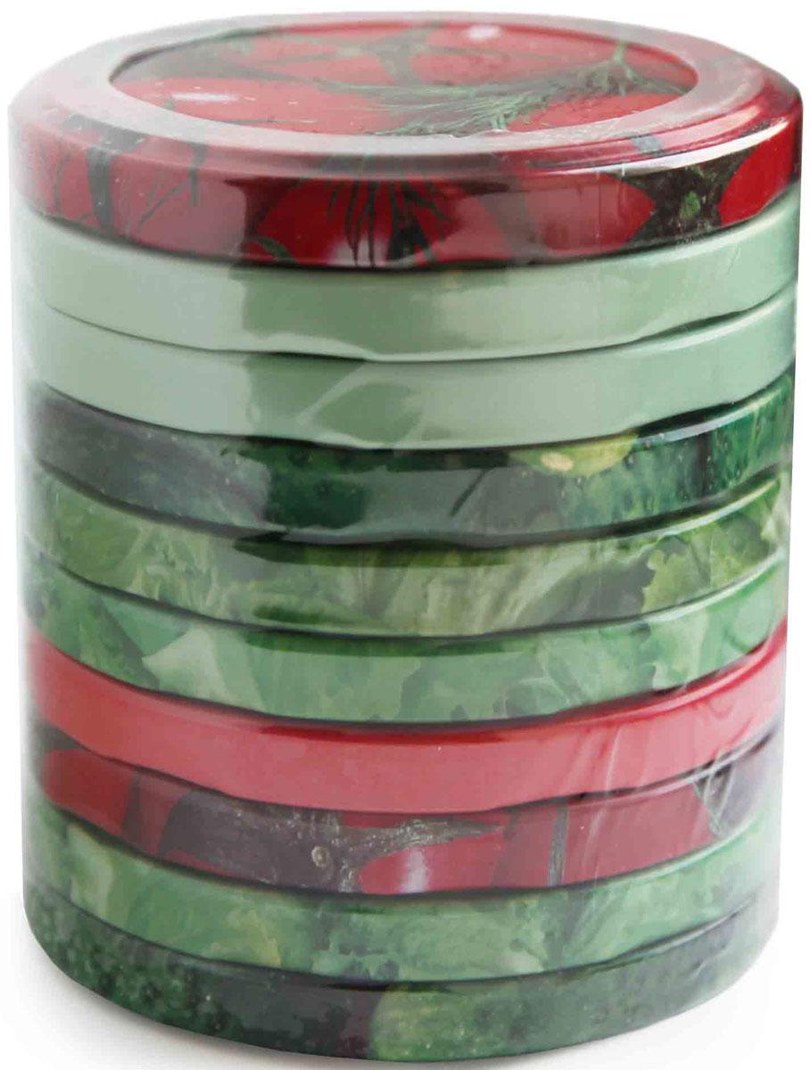 Набор винтовых крышек Metarus, для консервирования, цвет: в ассортименте, диаметр 8,2 см, 10 шт набор форм для заливного home queen с крышками 3 шт
