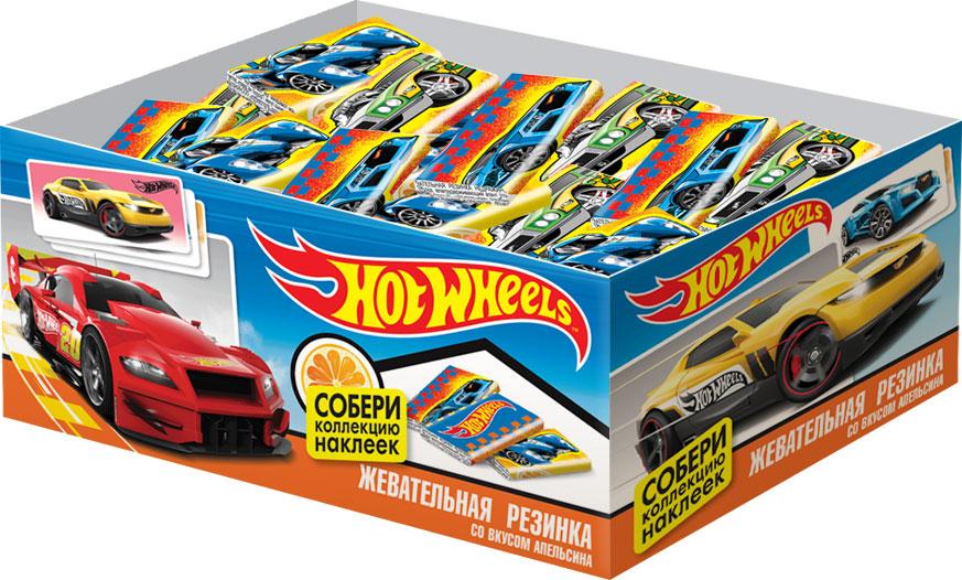Hot Wheels жевательная резинка с наклейкой, 100 шт по 2,5 г жевательная резинка конфитрейд trolls вкусношарик с начинкой 100 шт по 4 г