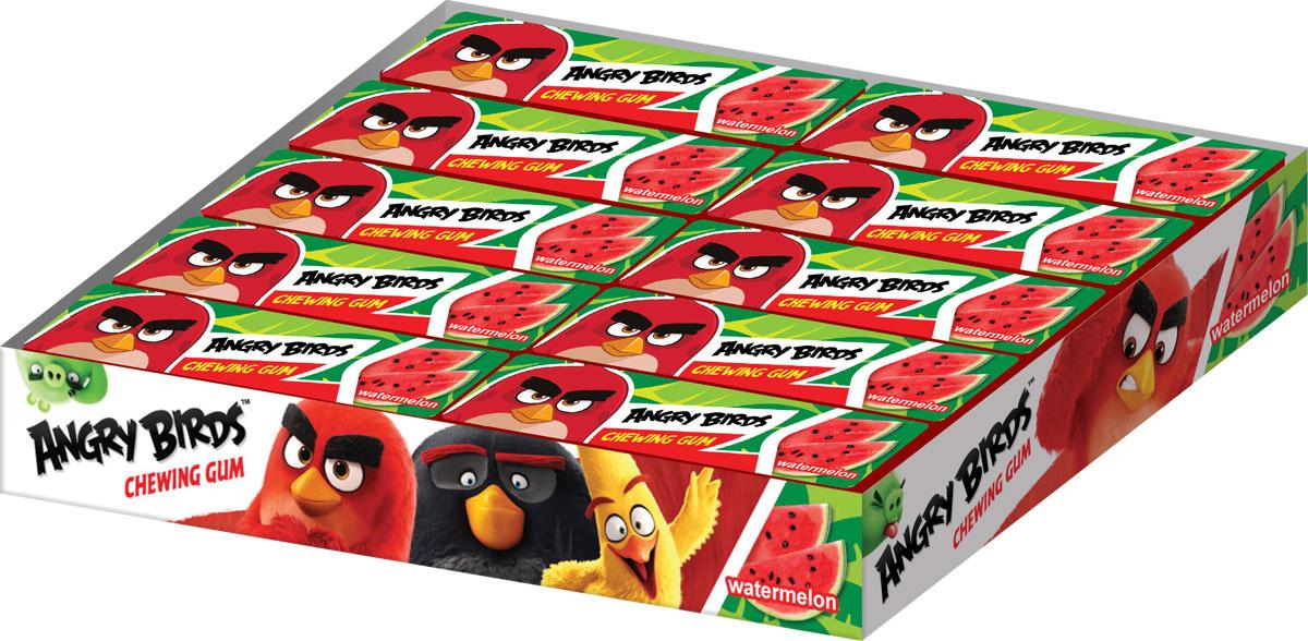 Angry Birds Movie жевательная резинка в пластинках, 20 шт по 13 г жевательная резинка конфитрейд робокар поли со вкусом мяты 24 шт по 14 г