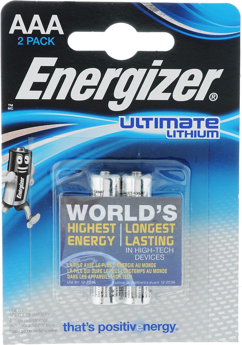 Батарейка литиевая ENERGIZER Ultim Lithium, тип ААА, 2 шт цена