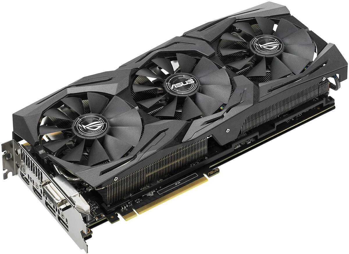 где купить Видеокарта ASUS ROG Strix GeForce GTX 1080 Ti OC 11GB, ROG-STRIX-GTX1080TI-O11G-GAMING дешево