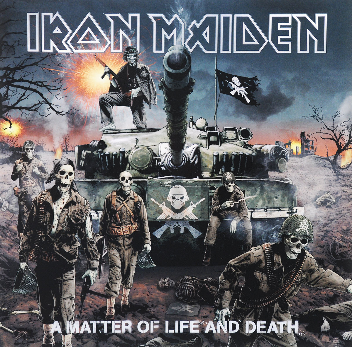 Iron Maiden Iron Maiden. A Matter Of Life And Death (2 LP) виниловая пластинка iron maiden a matter of life and death
