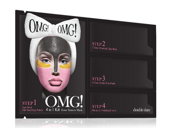 Double Dare OMG! Маска четырехкомпонентная для ухода за кожей лица 4IN1 KIT Zone System Mask