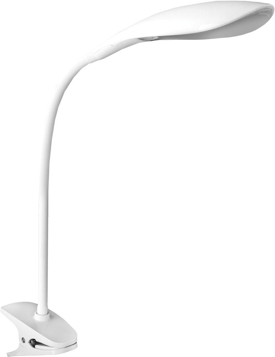 Светильник настольный Camelion, светодиодный, на прищепке, цвет: белый, 5 Вт, 230 В, 6000 К. KD-776 C0112724Светодиодный светильник Camelion - превосходное и современное решение для офиса и дома, лаконичный стильный дизайн. Изделие выполнено в классическом дизайне, крепится на прищепку. Характеристики: Вид ламп: светодиодная. Направление света регулируется гибкой стойкой, которая обеспечивает наклон и поворот плафона в любом направлении.