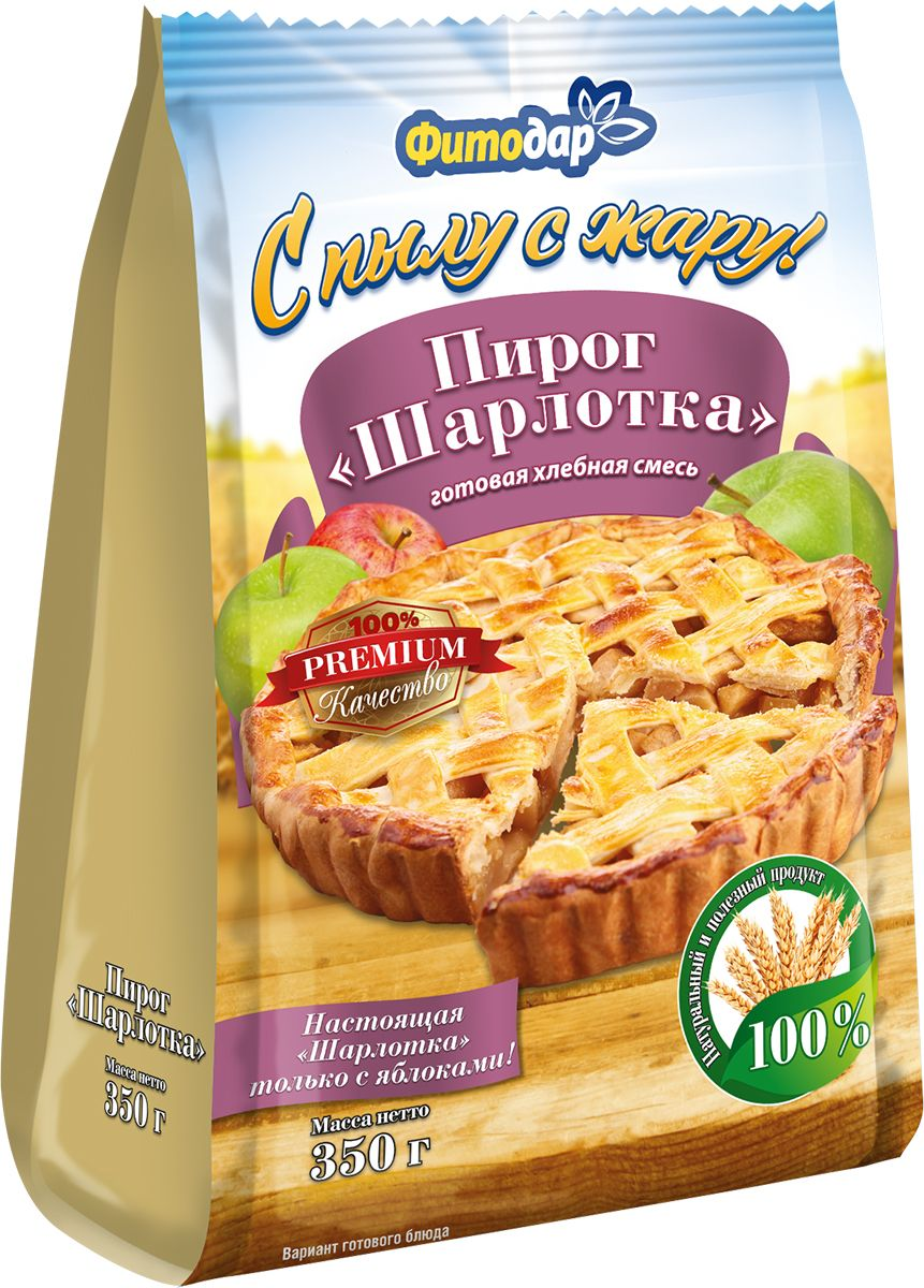 Фитодар пирог шарлотка мучная смесь, 350 г смесь для выпечки почти печенье матча шоколад кокос 370 г