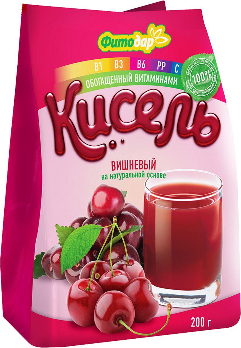 Фитодар кисель вишневый на натуральной основе витаминизированный, 200 г