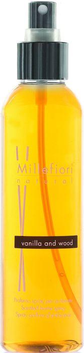 Духи-спрей для дома Millefiori Milano Natural Ваниль и дерево / Vanilla & Wood, 150 мл ароматизатор millefiori milano natural цветы магнолии и дерево 150 мл