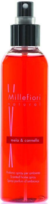 Духи-спрей для дома Millefiori Milano Natural Яблоко и корица / Mela & Canela, 150 мл ароматизатор millefiori milano natural яблоко и корица сменный блок 250 мл