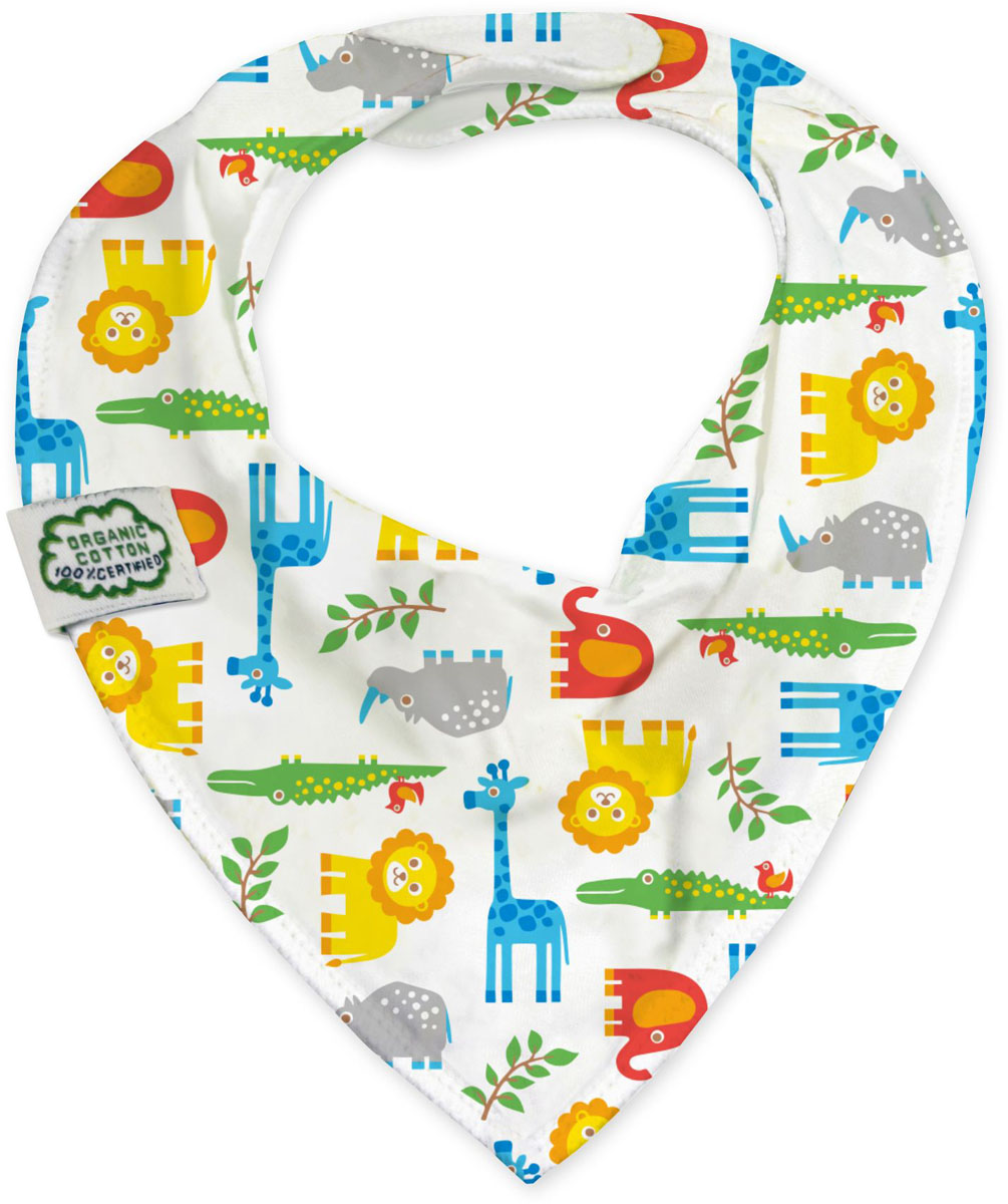 ImseVimse Нагрудник Bandana Zoo multi striped bandana