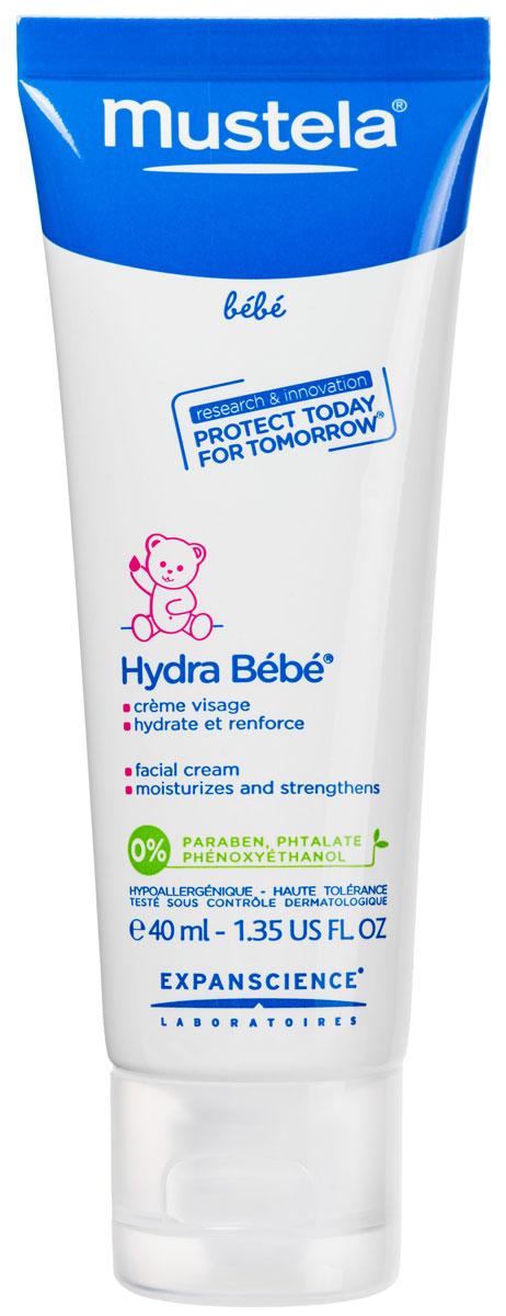 Крем для лица Mustela Hydra-Bebe увлажняющий, детский, 40 мл крем для лица увлажняющий mustela bebe hydra bebe детский 40 мл