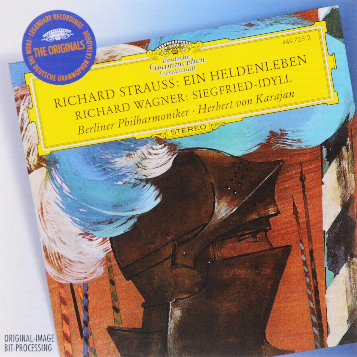 Berliner Philharmoniker,Герберт Караян Strauss. Ein Heldenleben / Wagner. Siegfried-Idyll richard wagner siegfried idyll