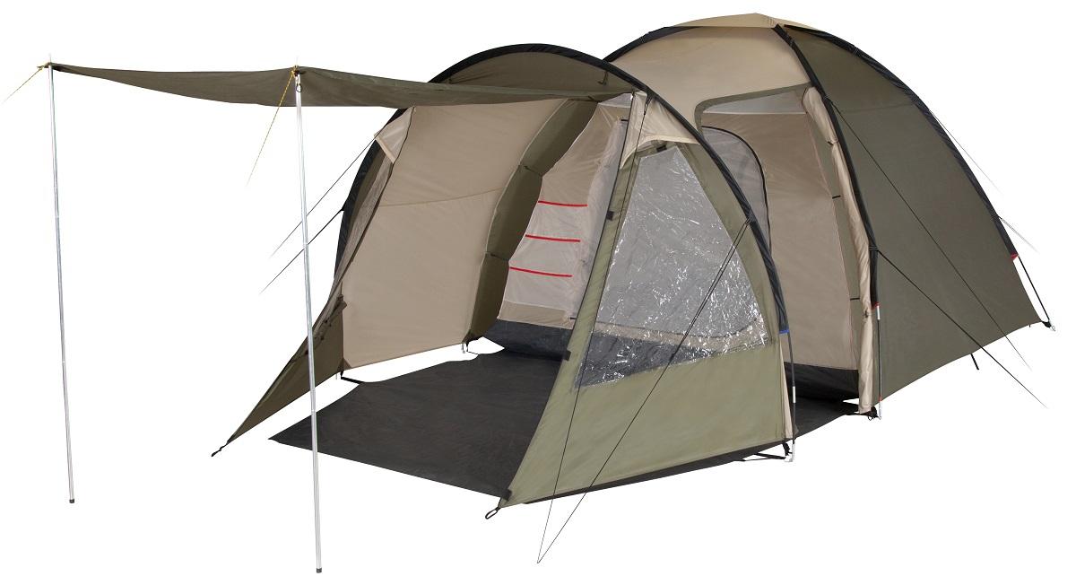 Палатка четырехместная TREK PLANET Vegas 4, цвет: светлый хаки, хаки