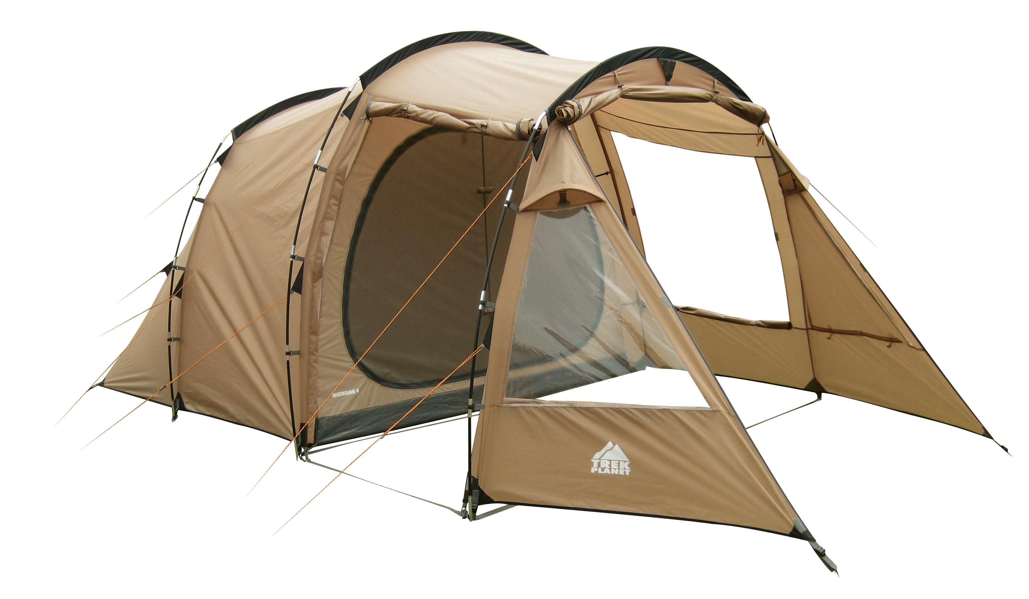 """Палатка пятиместная TREK PLANET """"Michigan 5"""", цвет: песочный"""