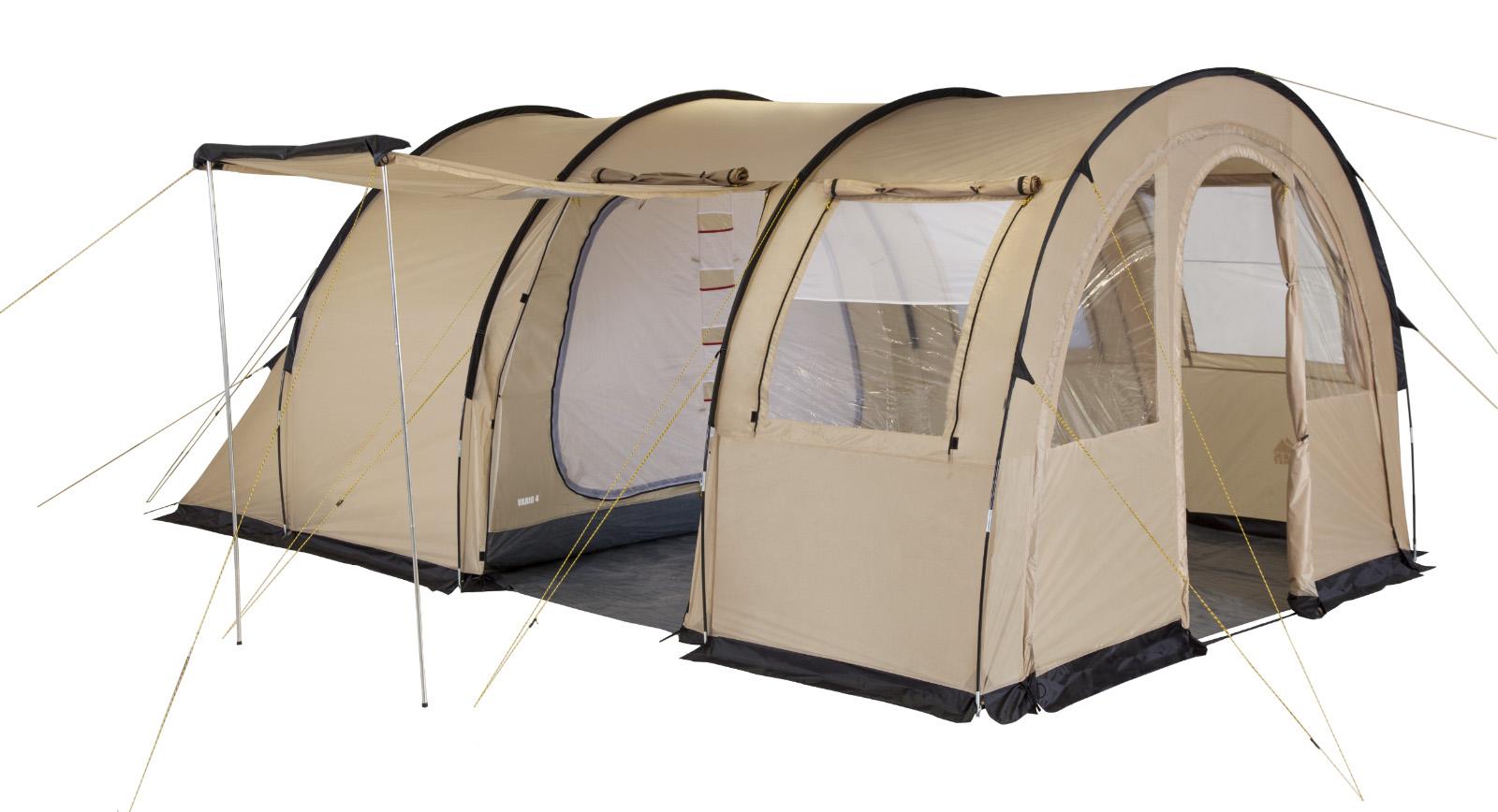 """Палатка пятиместная TREK PLANET """"Vario 5"""", цвет: песочный"""