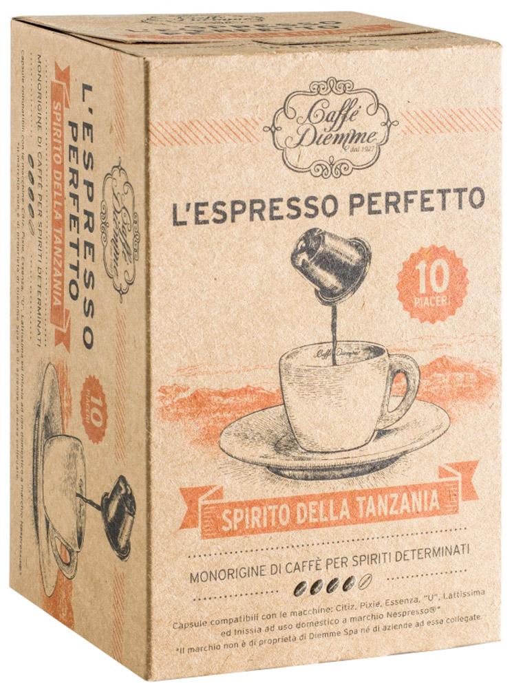 Diemme Caffe Spirito della Tanzania кофе в капсулах, моносорт, 10 шт union day tanzania gifts