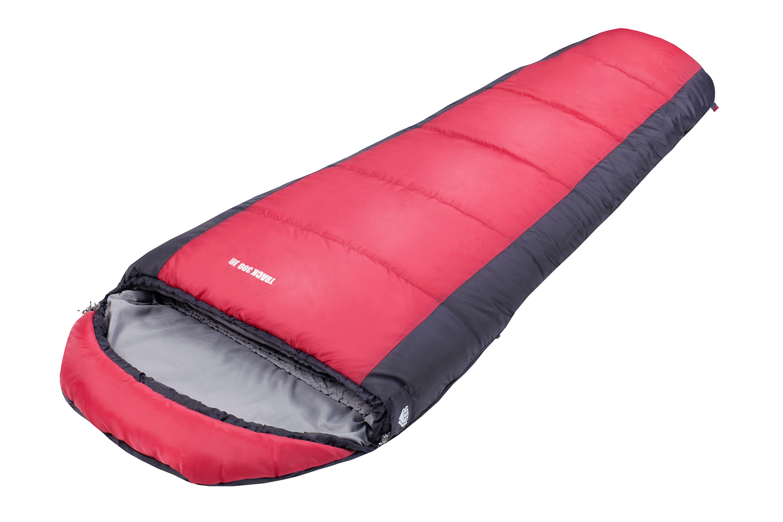 Спальный мешок TREK PLANET Track 300 Jr, цвет: серый, красный, правосторонняя молния