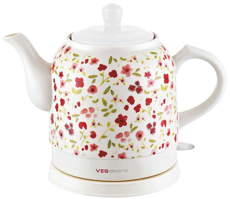 Электрический чайник Ves VES1022-R электрический чайник ves ves1022 r красный