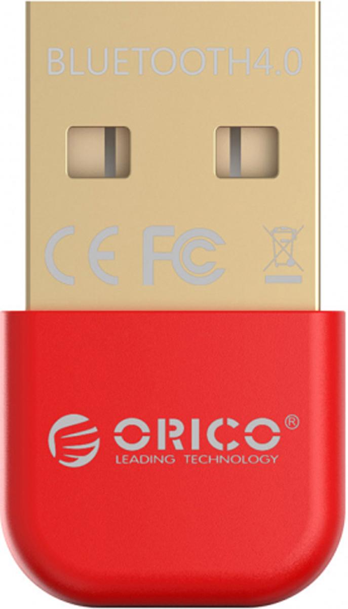 Фото - Orico BTA-403, Red Bluetooth адаптер bluetooth передатчик orico bta 403 bk black