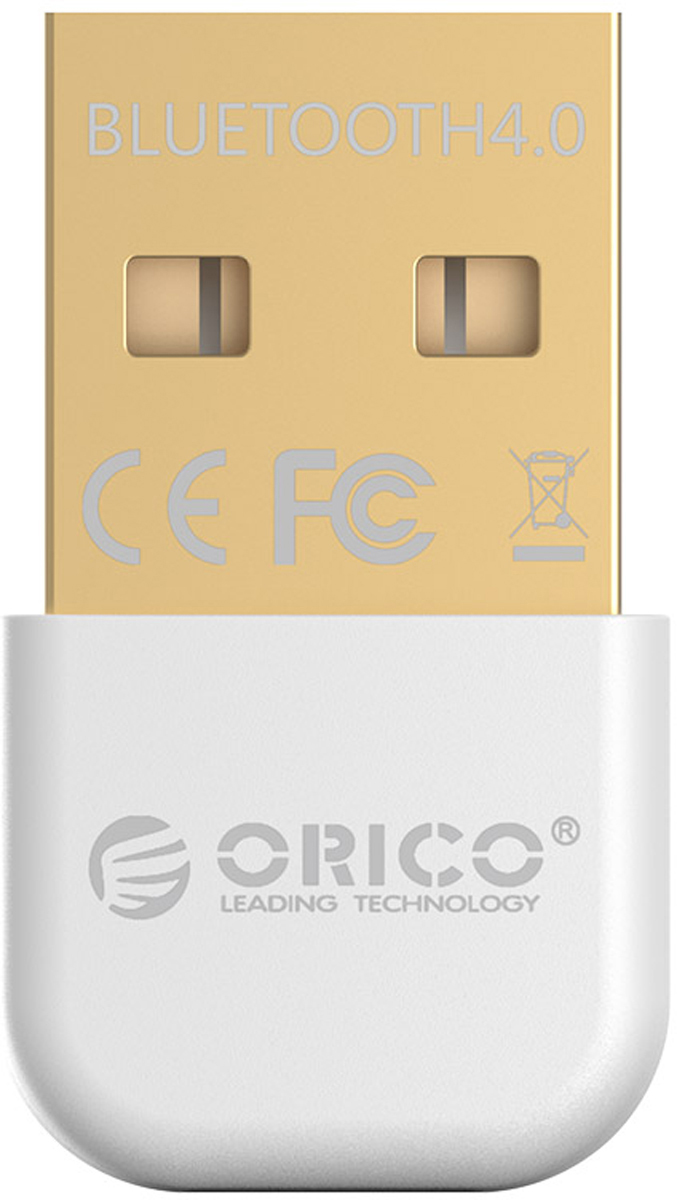 Фото - Orico BTA-403, White Bluetooth адаптер bluetooth передатчик orico bta 403 bk black