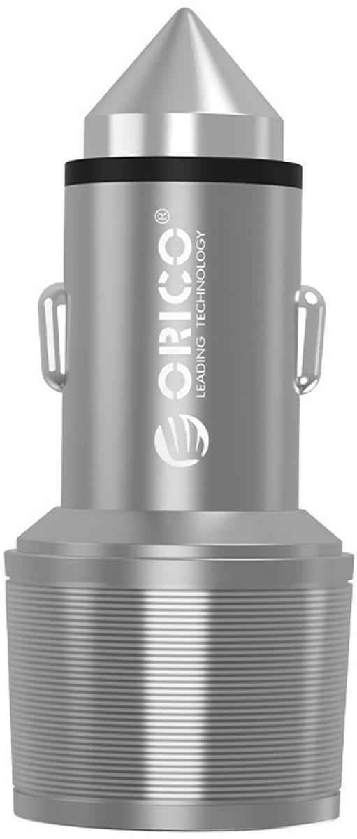Orico UCI-2U автомобильное зарядное устройство, Silver автомобильное зарядное устройство orico uci 2u 2 1 1а 2 х usb серебристый