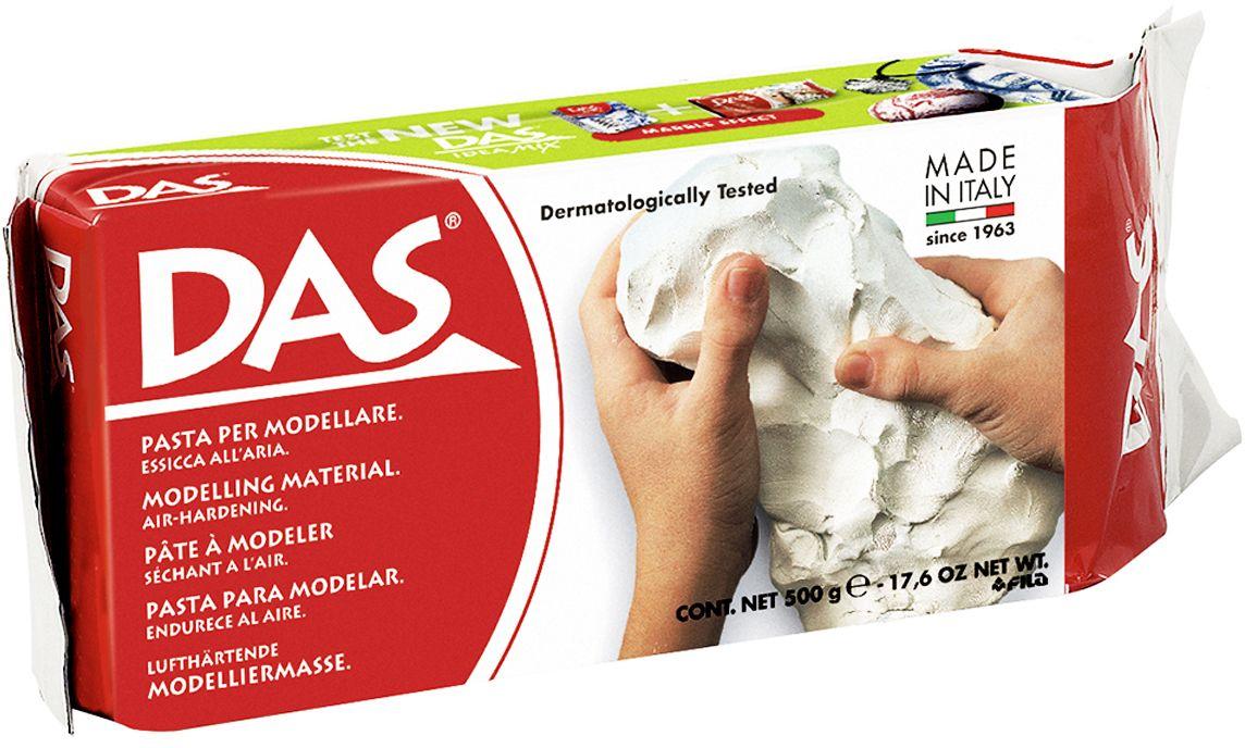 лучшая цена Das Масса для моделирования цвет белый 500 г