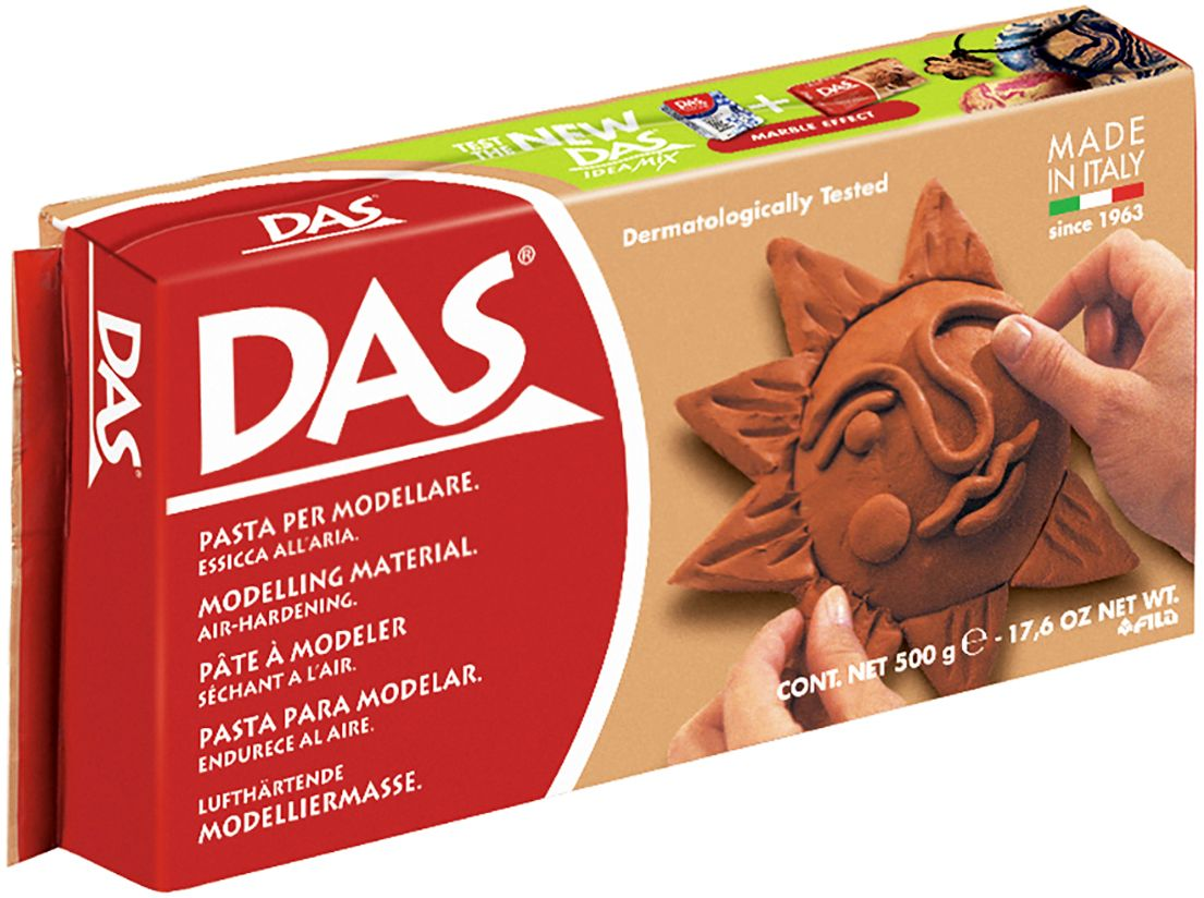 лучшая цена Das Масса для моделирования цвет терракотовый 500 г