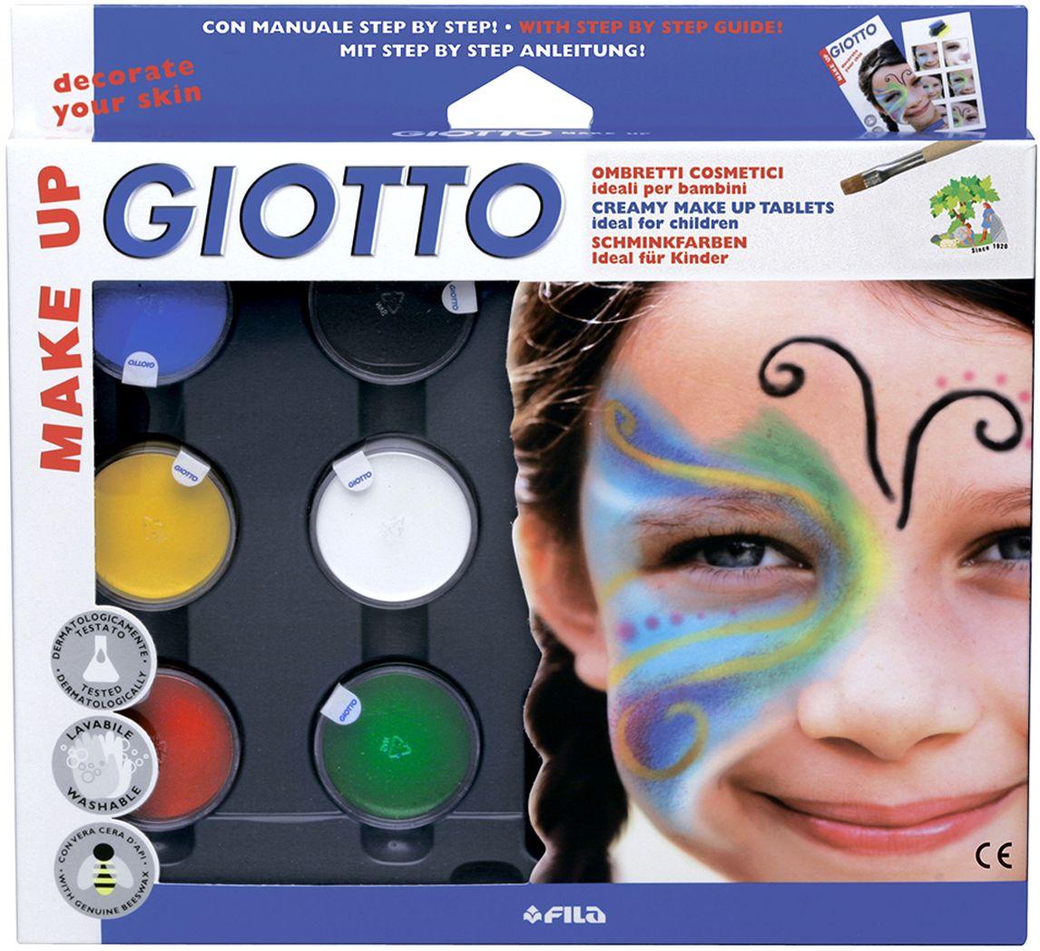 Giotto Make Up Грим-крем с кистью и спонжем 6 цветов 470100