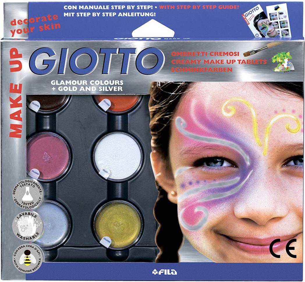 Giotto Make Up Грим-крем с кистью и спонжем 6 цветов 471100