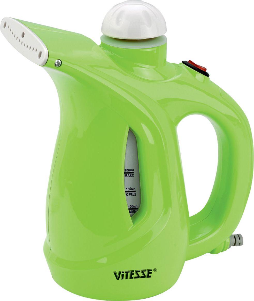Отпариватель ручной Vitesse VS-695, зеленый ручной отпариватель мастер пар плюс
