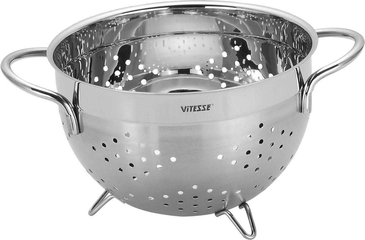 Дуршлаг Vitesse Fanette, диаметр 19 см. VS-1245 дуршлаг vitesse