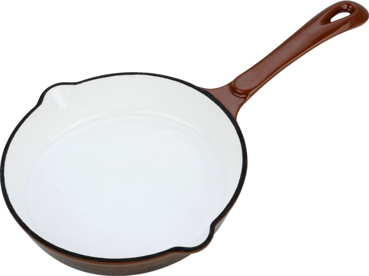 Сковорода чугуннаяVitesse, с антипригарным покрытием, цвет: коричневый. Диаметр 24 см. VS-2306 + прихватка сковорода vitesse с крышкой с антипригарным покрытием цвет синий диаметр 20 см vs 2204 подарок лопатка кулинарная vitesse длина 25 5 см