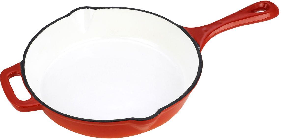 Сковорода Vitesse Ferro, цвет: оранжевый. Диаметр 26 см + ПОДАРОК: Кухонная рукавица, 1 шт vitesse ferro