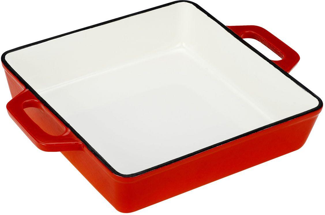 Жаровня Vitesse Ferro, цвет: оранжевый, 25 х 25 см + ПОДАРОК: Кухонные рукавицы, 2 шт vitesse ferro