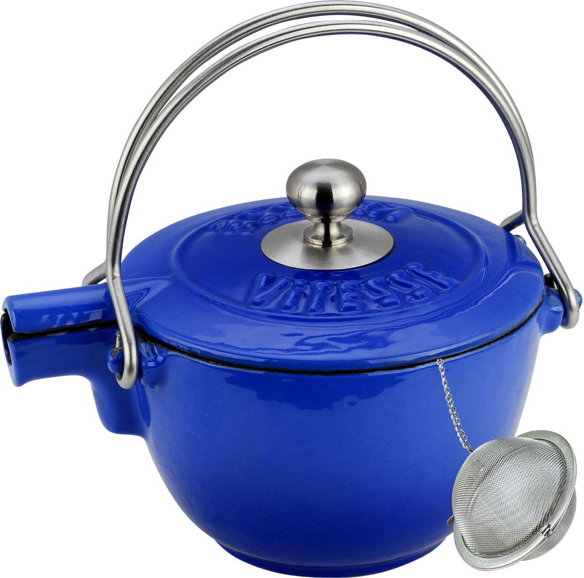 Чайник заварочный Vitesse Ferro, с ситечком, цвет: синий, 1,15 л vitesse ferro