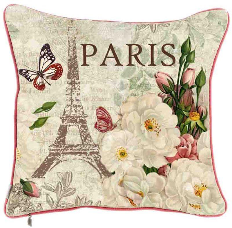 Фото - Наволочка декоративная Apolena Весна в Париже, 45 х 45 см наволочка декоративная apolena fresh rose 43 х 43 см p302 8795 1